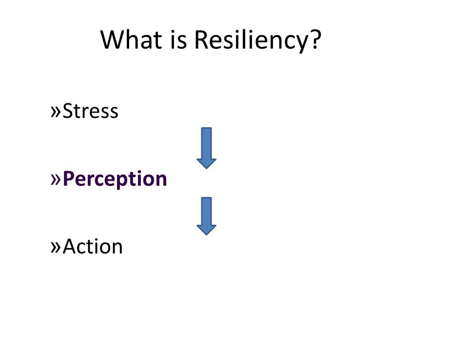 What is Resiliency? » Stress » Perception » Action