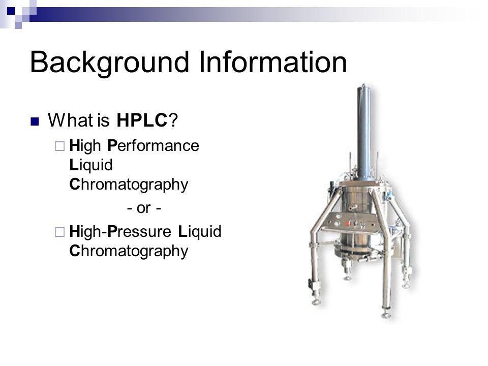 How HPLC works…
