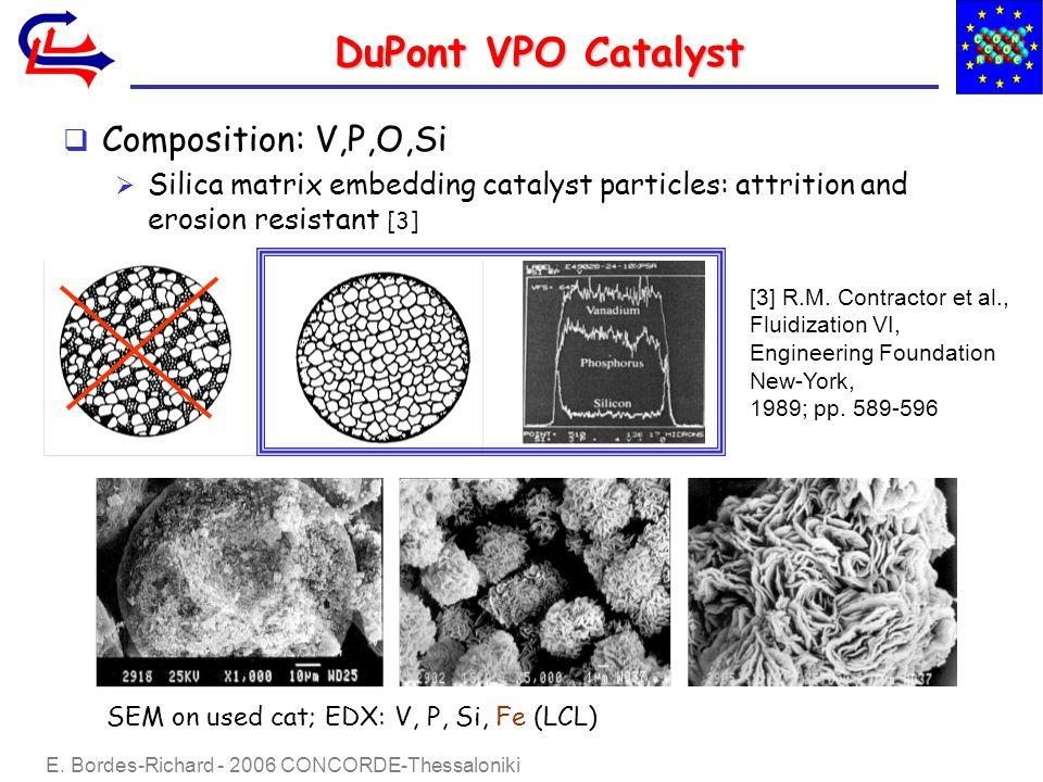 E.Bordes-Richard - 2006 CONCORDE-Thessaloniki DuPont VPO Catalyst DuPont recipe (R.M.