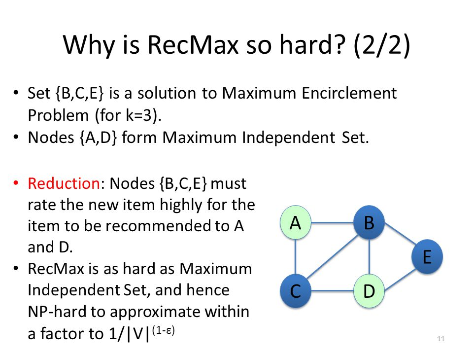 Why is RecMax so hard.