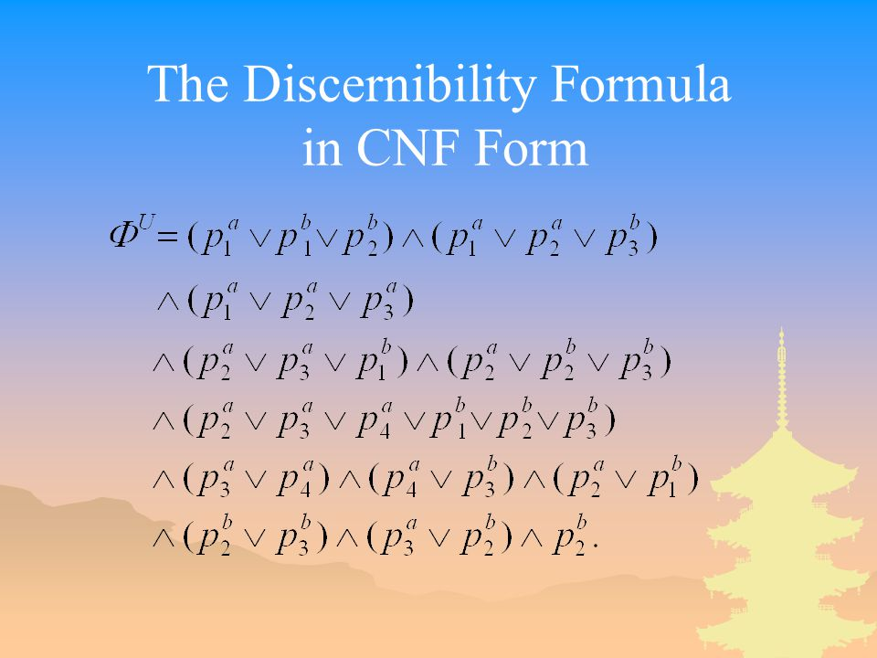 The Discernibility Formula in CNF Form