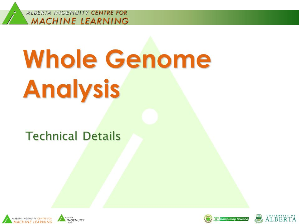 Whole Genome Analysis Technical Details