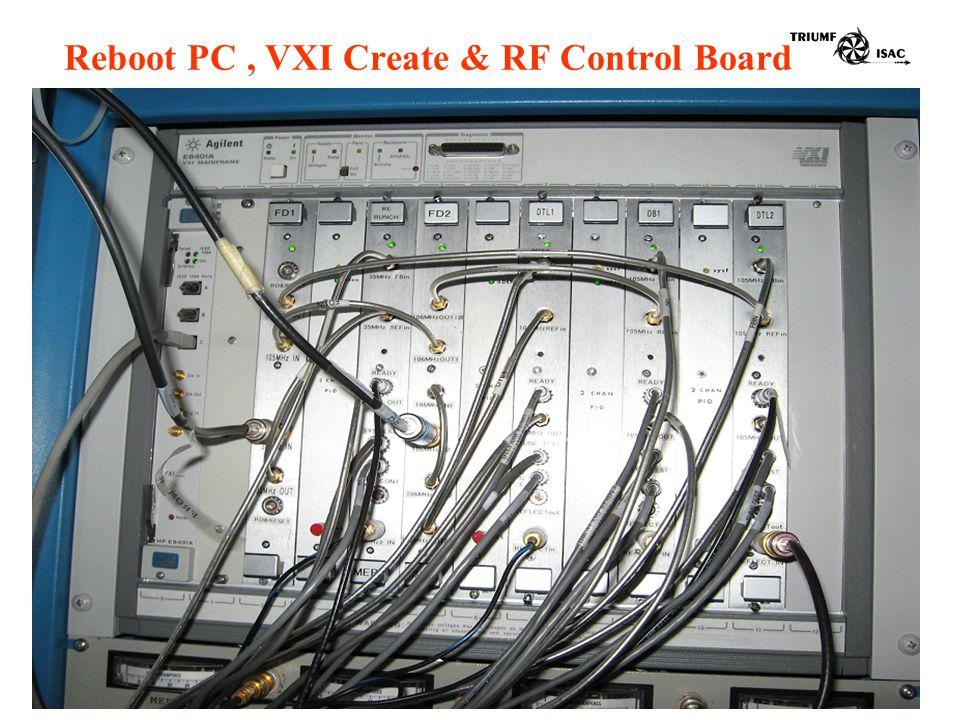 Reboot PC, VXI Create & RF Control Board