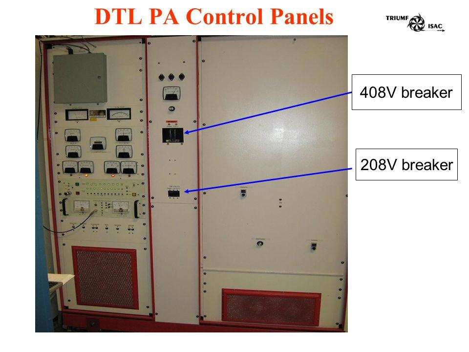 DTL PA Control Panels 208V breaker 408V breaker