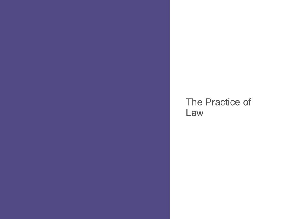 The Practice of Law