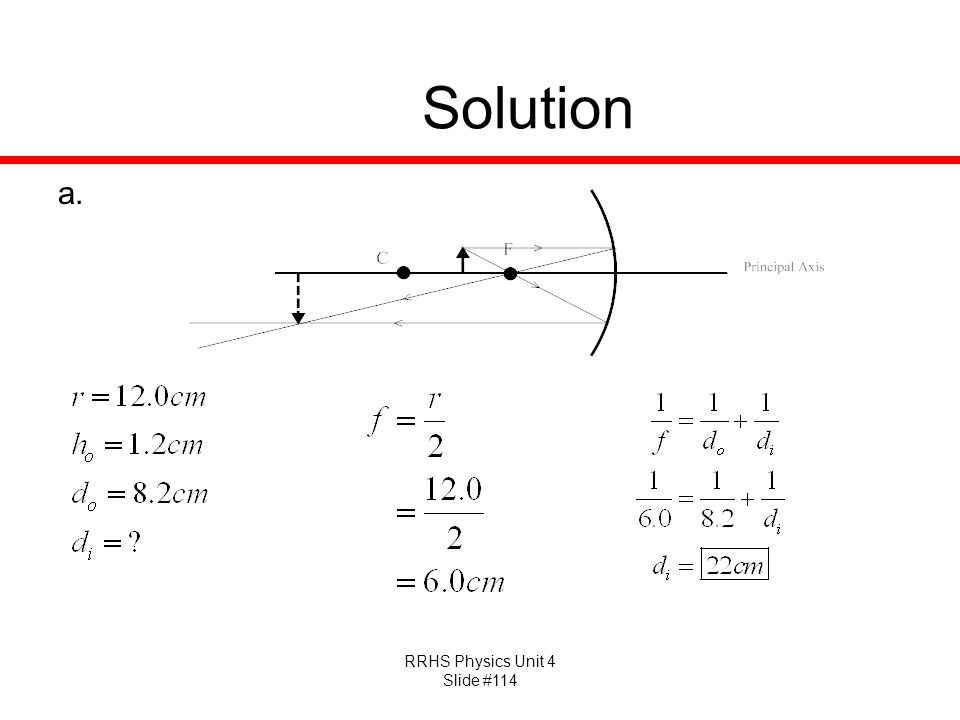 RRHS Physics Unit 4 Slide #114 Solution a.