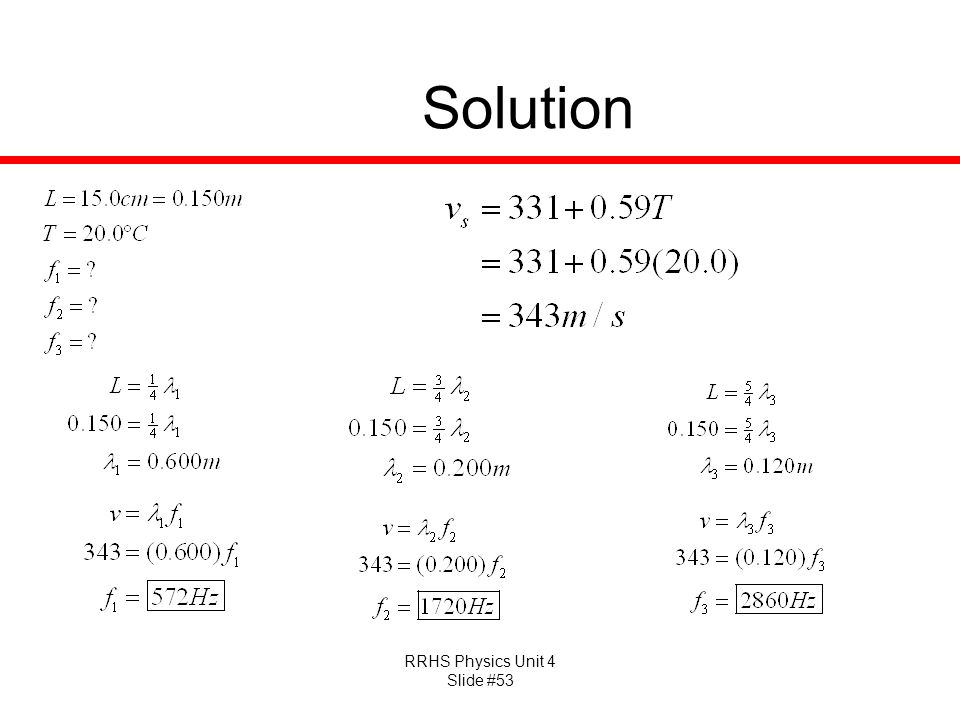 RRHS Physics Unit 4 Slide #53 Solution