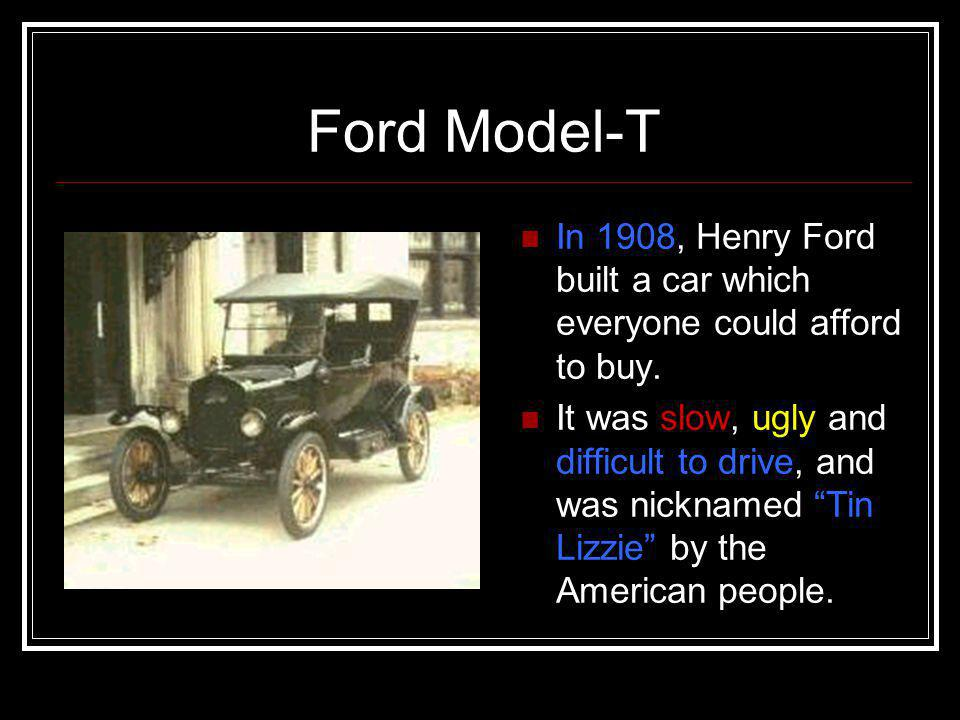 Henry Ford Ford Model-T & The Cycle of Prosperity