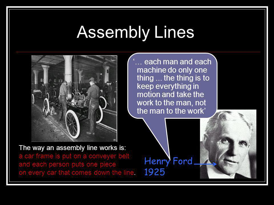 Key Quote – Henry Ford How would this have helped to cut production costs? «A customer can have any colour he likes for his car as long as it's black.