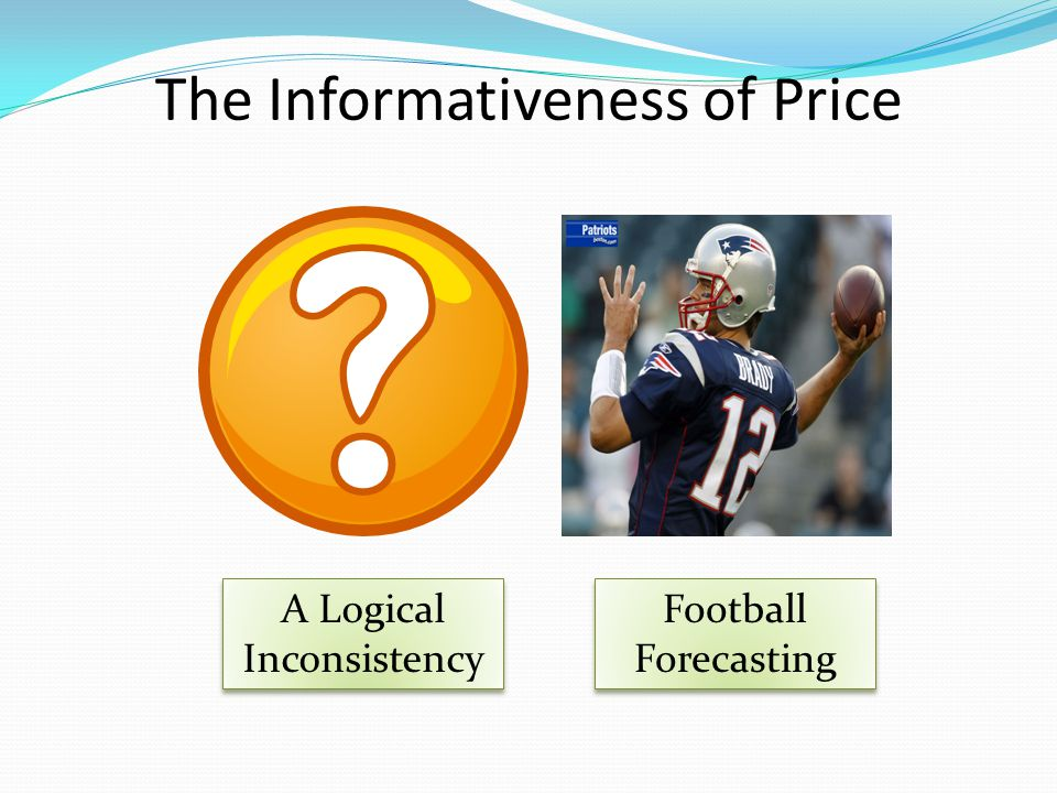 The Informativeness of Price A Logical Inconsistency Football Forecasting