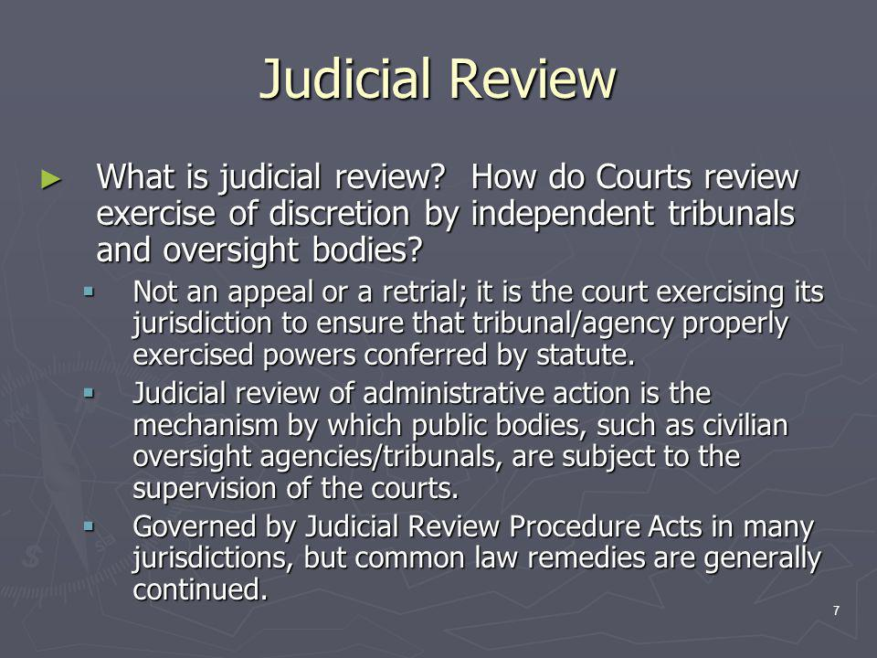 7 Judicial Review ► What is judicial review.