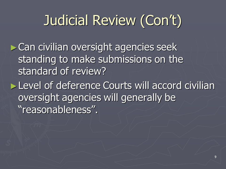 10 Supreme Court of Canada (Re)Defining Reasonableness: ► Dunsmuir v.