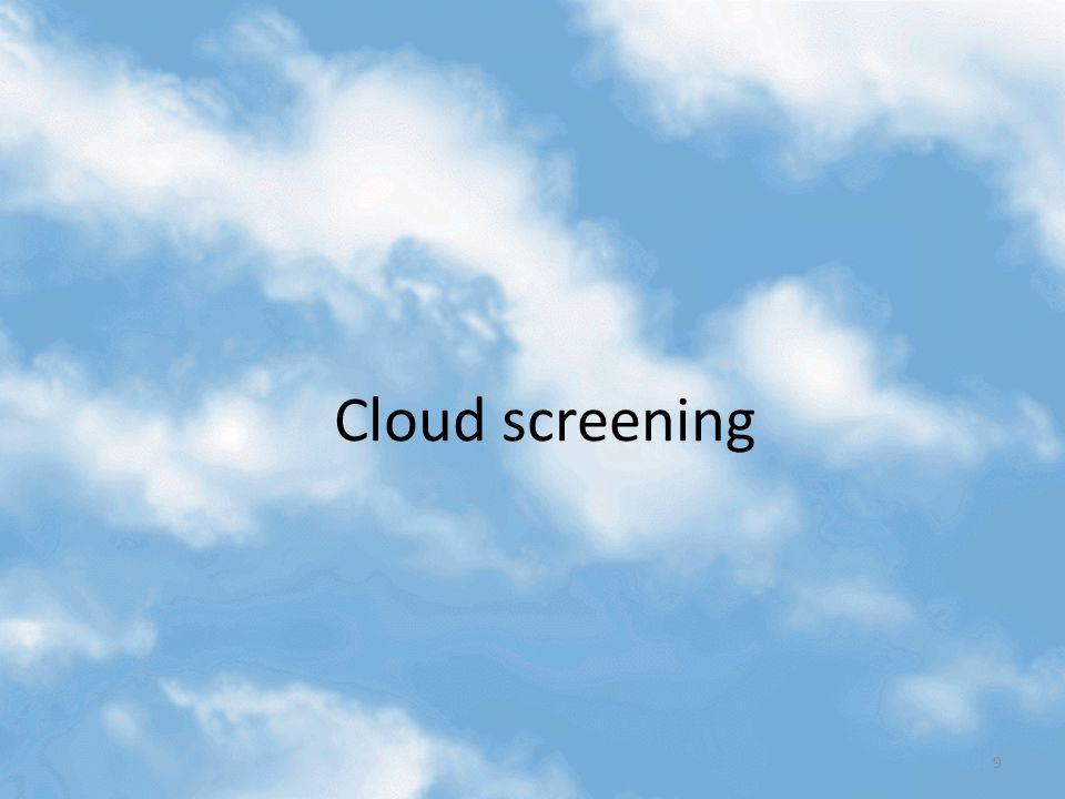 Cloud screening 9