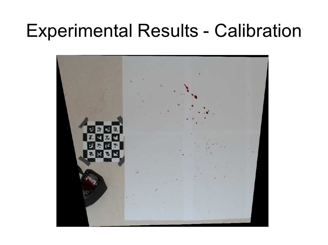 Experimental Results - Calibration