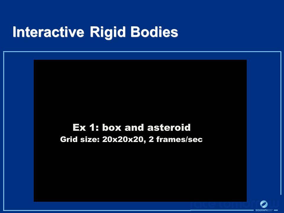 Interactive Rigid Bodies