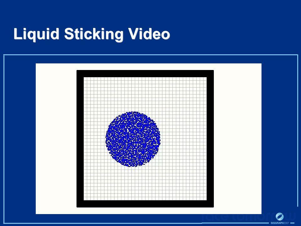 Liquid Sticking Video