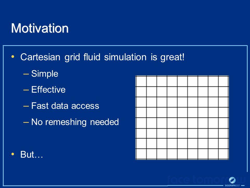 Motivation Cartesian grid fluid simulation is great.