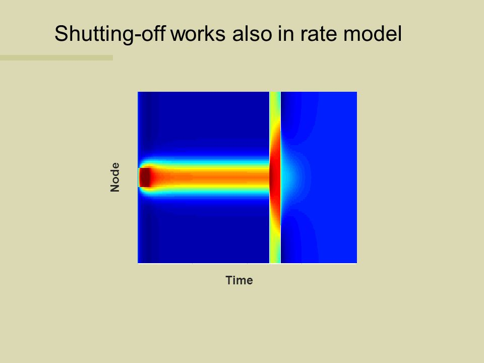 Shutting-off works also in rate model Time Node