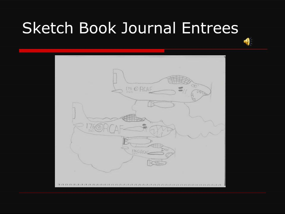 Sketch Book Journal Entrees