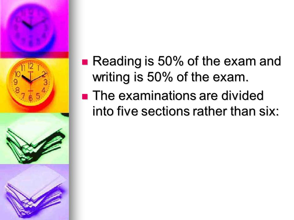 Three reading sections rather than four.Three reading sections rather than four.