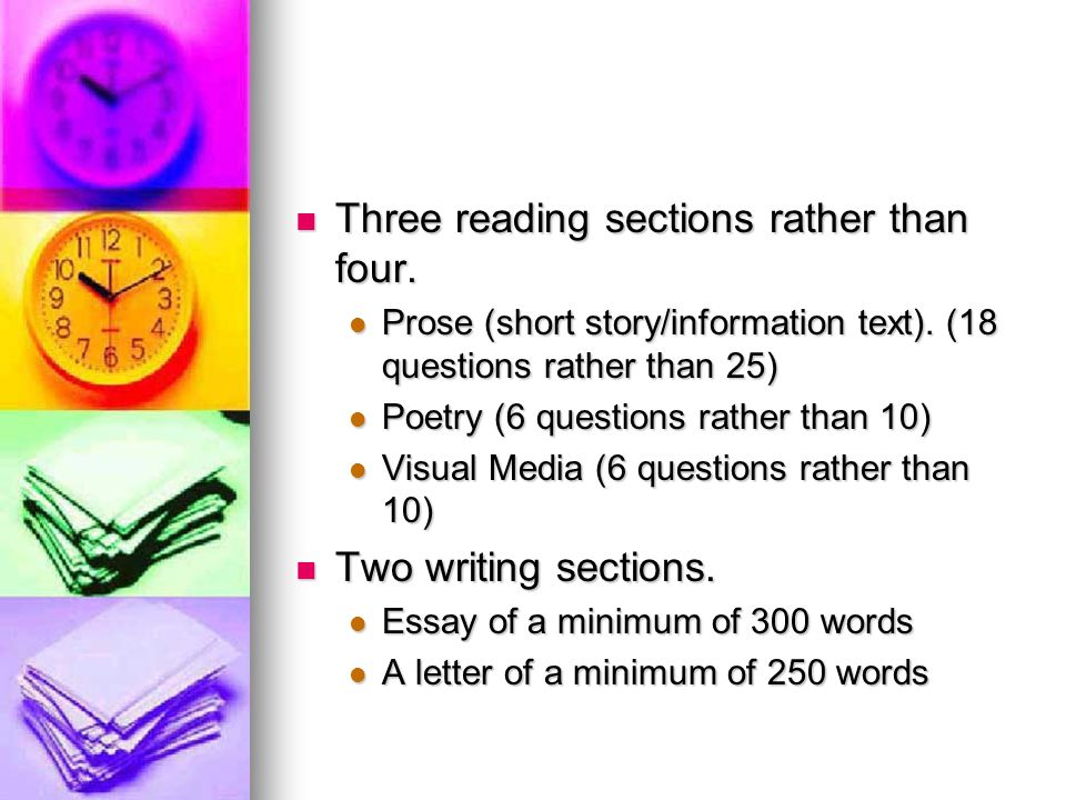 Reading is marked out of 15 (each question valued at 0.5 points).