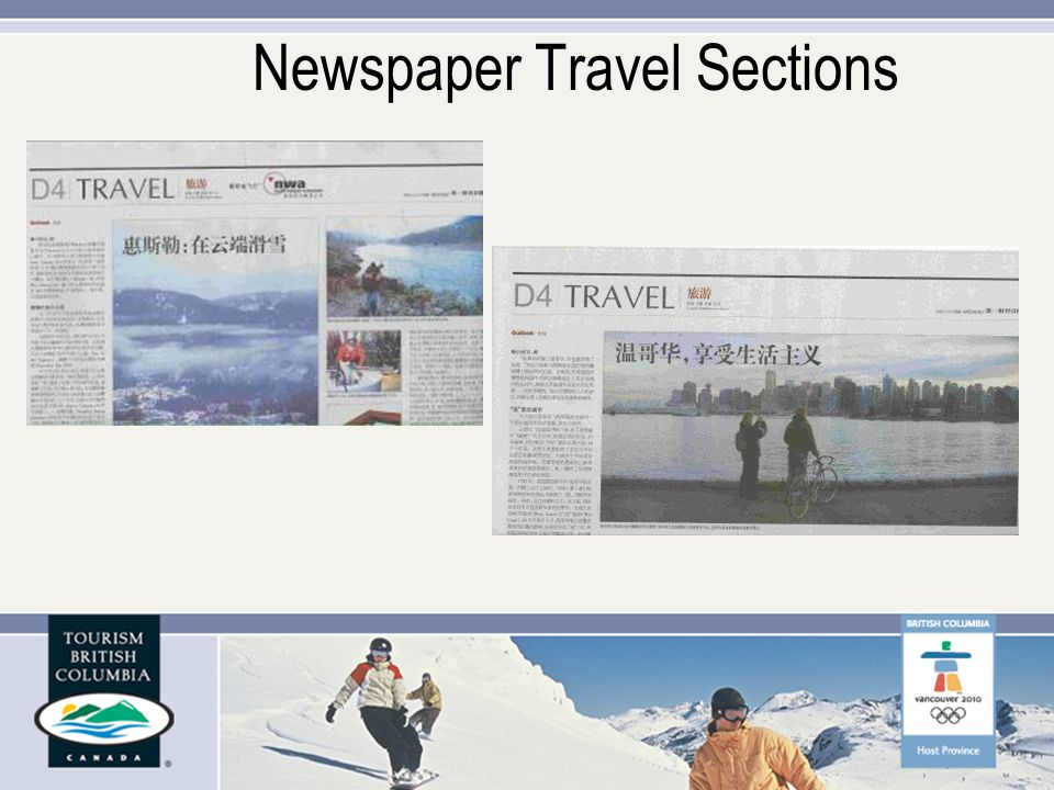 Newspaper Travel Sections