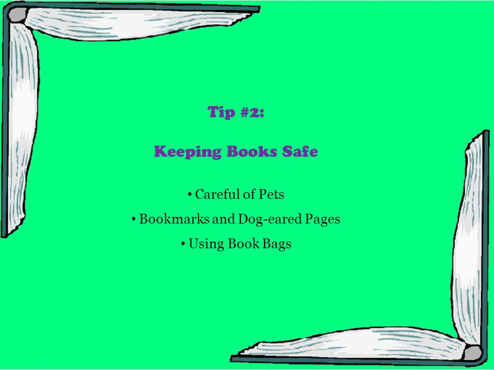 Please keep your library books safe from pets They don't understand that books are not toys to play with.