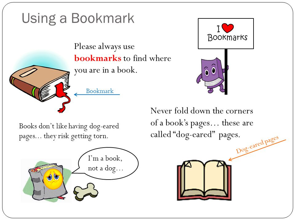 Please always use bookmarks to find where you are in a book.