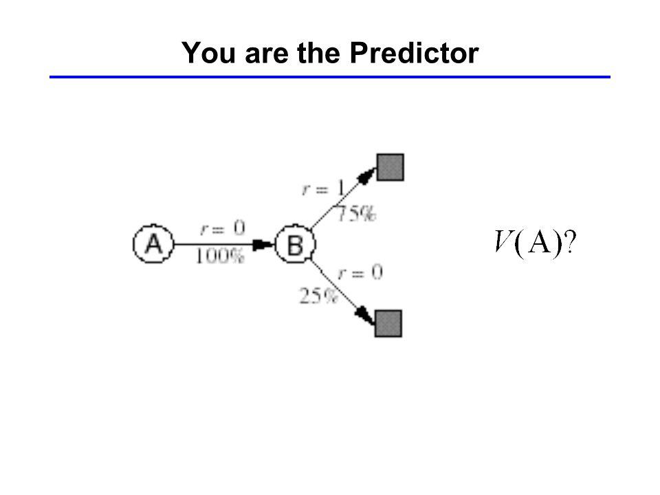 You are the Predictor