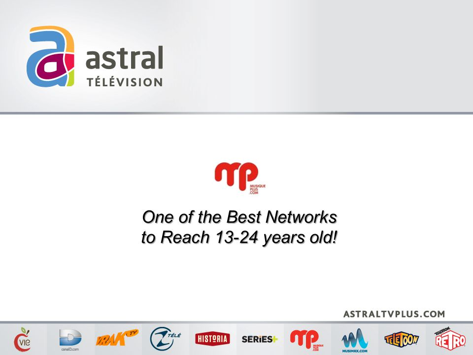 One of the Best Networks to Reach 13-24 years old!
