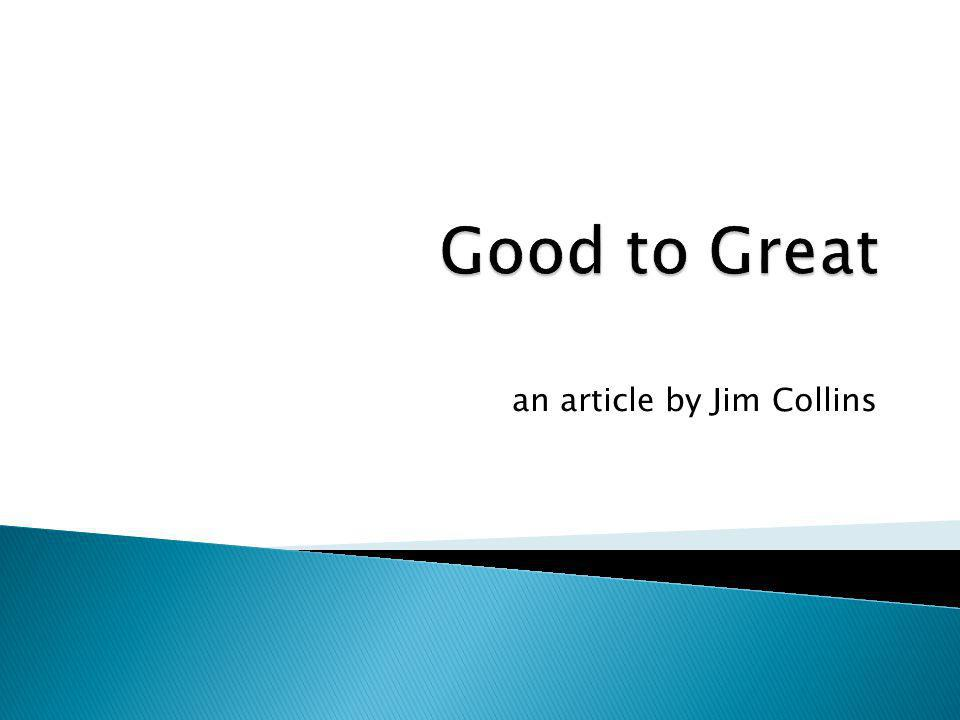 an article by Jim Collins