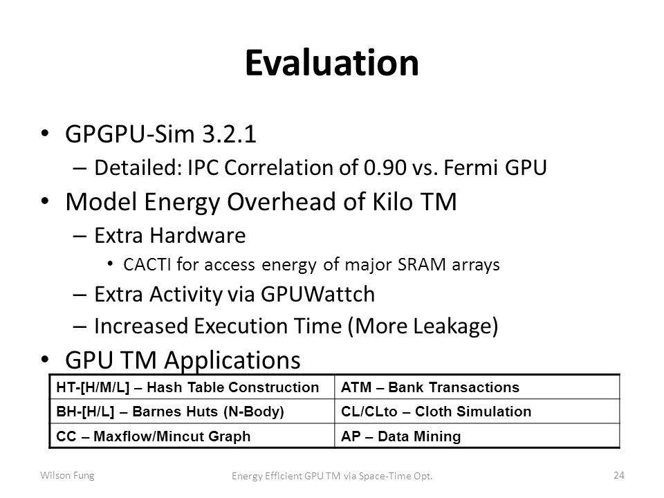 Evaluation 24 GPGPU-Sim – Detailed: IPC Correlation of 0.90 vs.