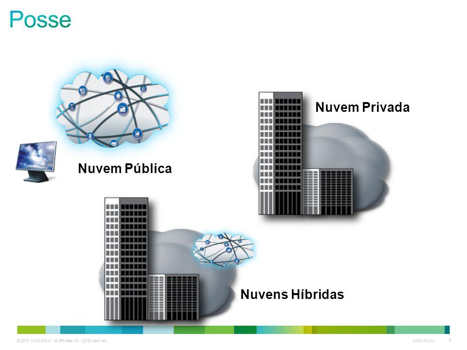 © 2010 Cisco and/or its affiliates. All rights reserved. Cisco Public 5 Nuvem Pública Nuvem Privada Nuvens Híbridas