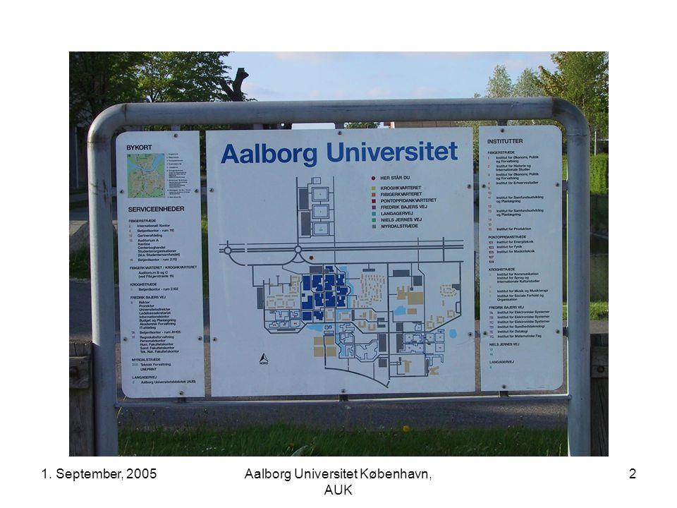 1. September, 2005Aalborg Universitet København, AUK 2