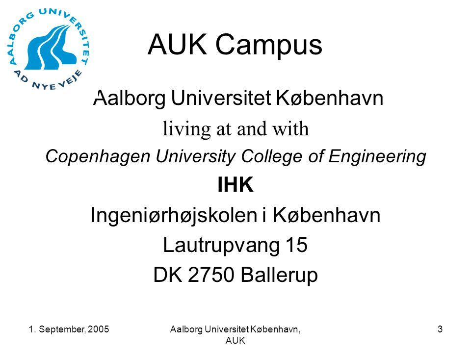 1.September, 2005Aalborg Universitet København, AUK 14 Pioneers.