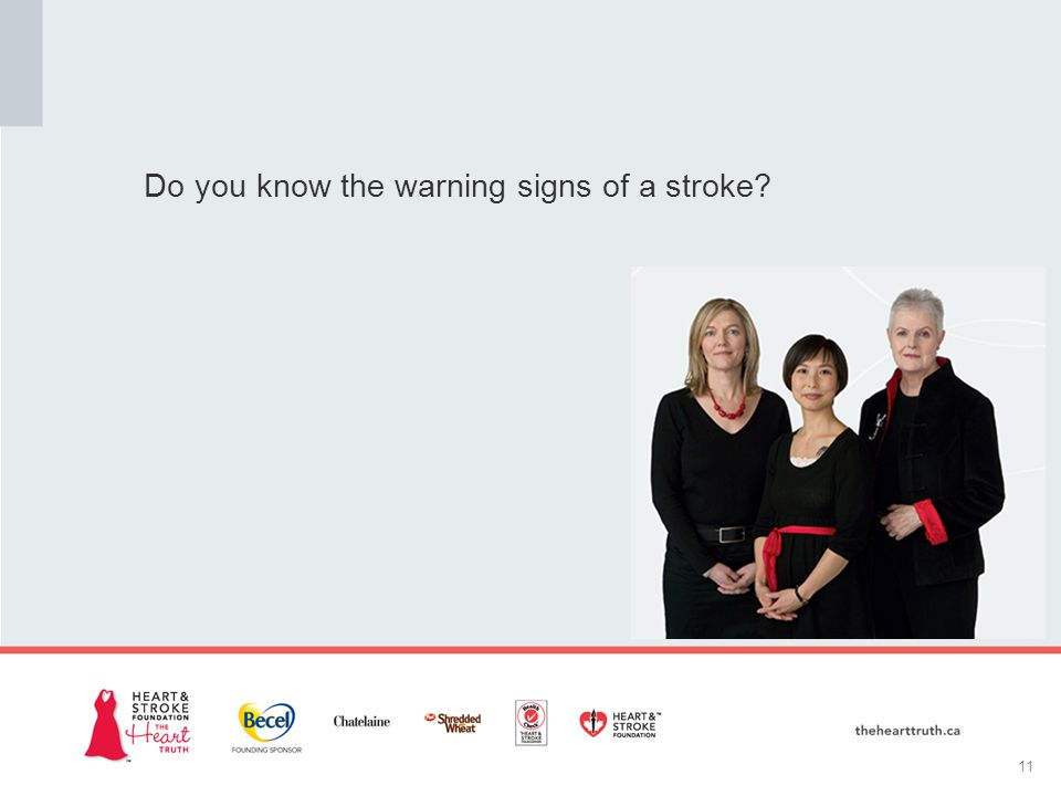 Do you know the warning signs of a stroke 11
