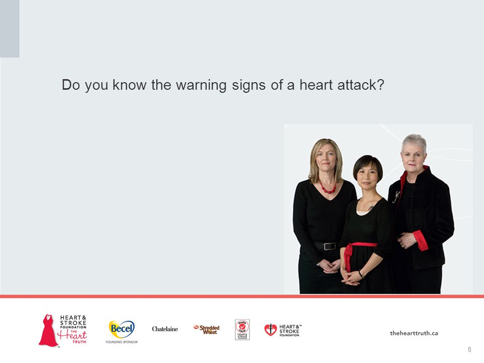 Do you know the warning signs of a heart attack 8
