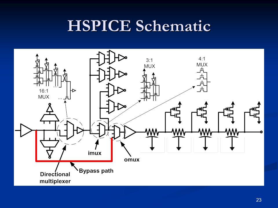 23 HSPICE Schematic