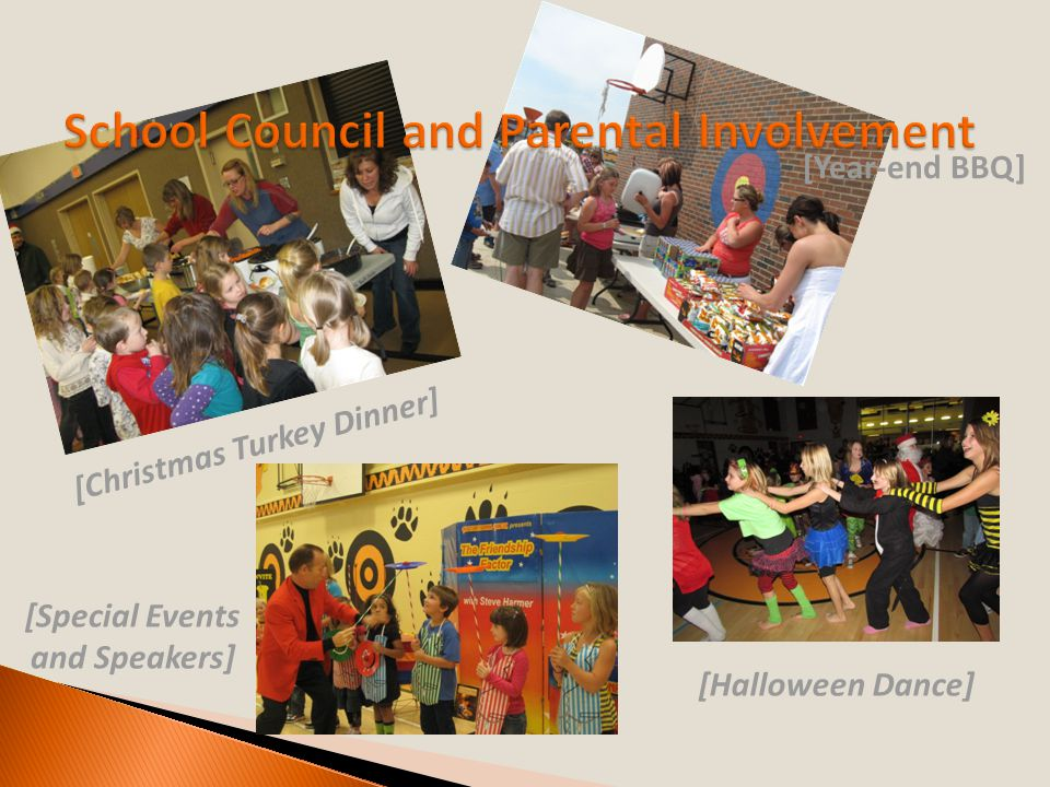 [Christmas Turkey Dinner] [Year-end BBQ] [Halloween Dance] [Special Events and Speakers]