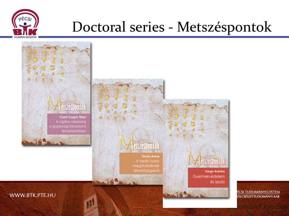 Doctoral series - Metszéspontok