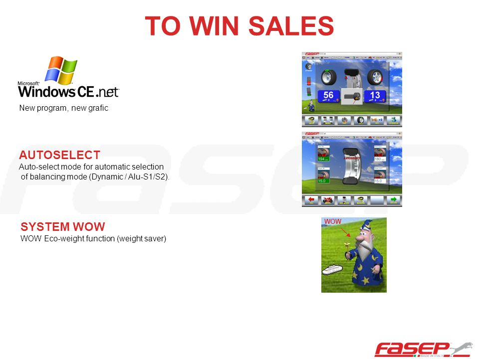 TO WIN SALES AUTOSELECT Auto-select mode for automatic selection of balancing mode (Dynamic / Alu-S1/S2).