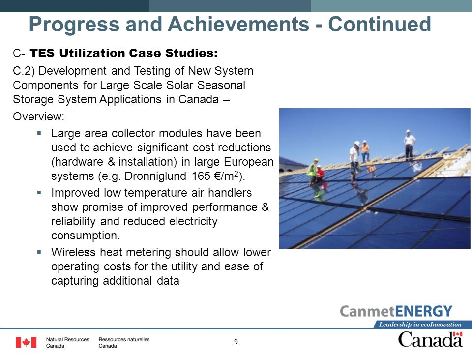 9 C- TES Utilization Case Studies: C.2) Development and Testing of New System Components for Large Scale Solar Seasonal Storage System Applications in