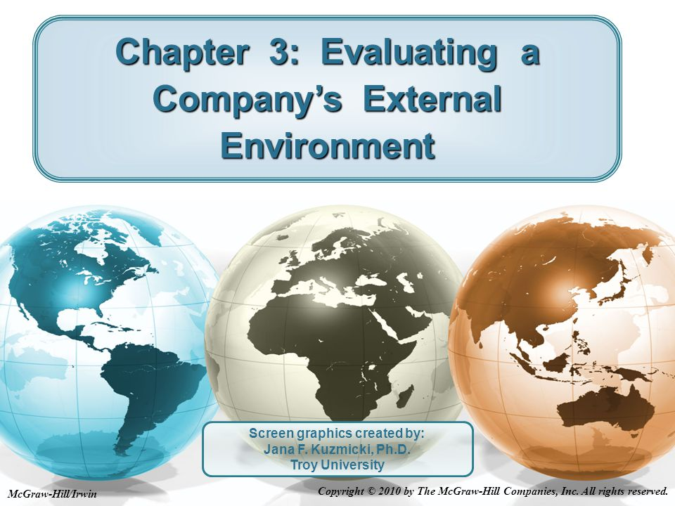 Table 3.1: What to Consider in Identifying an Industry's Dominant Economic Features 3-12