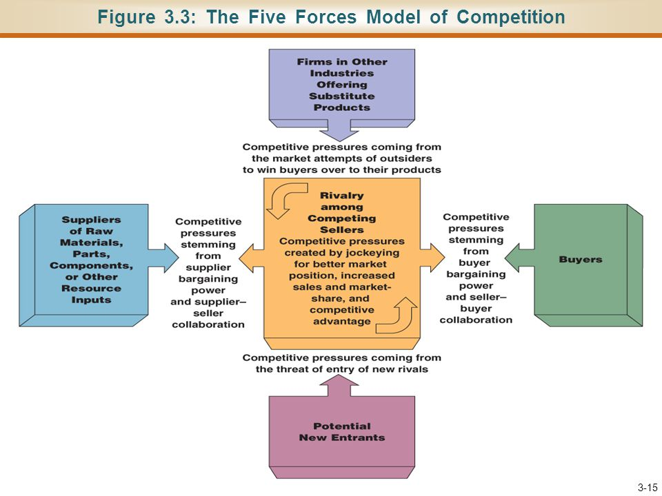 Figure 3.3: The Five Forces Model of Competition 3-15