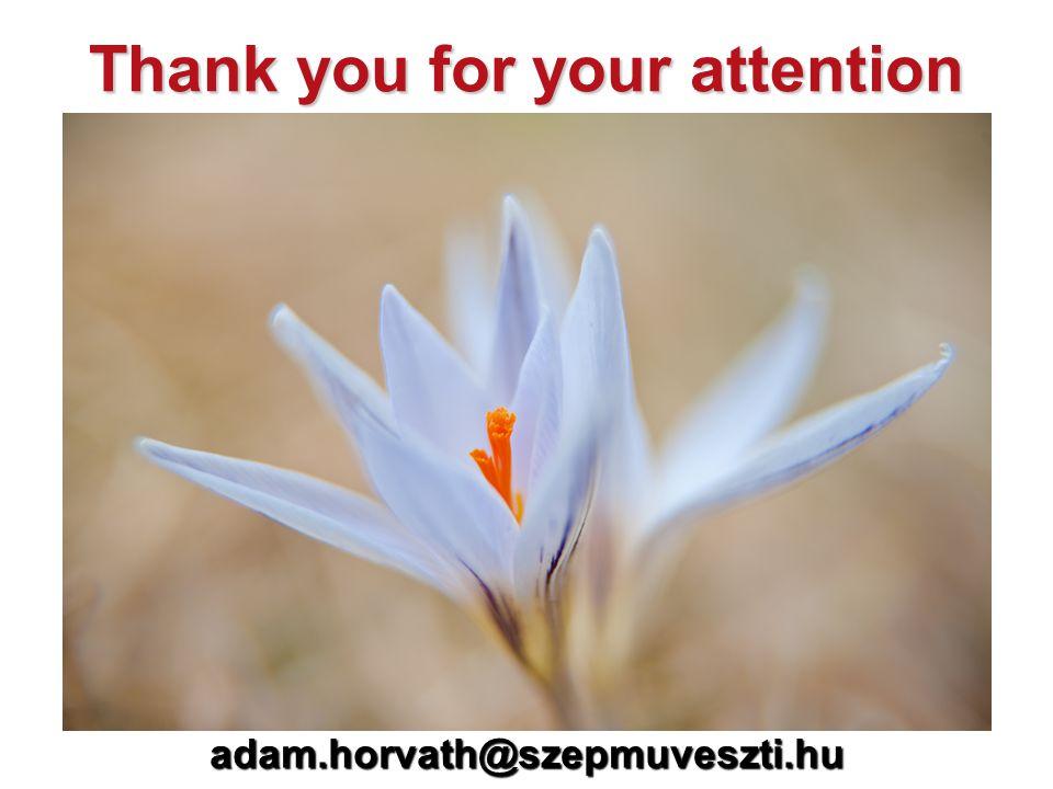 adam.horvath@szepmuveszti.hu Thank you for your attention