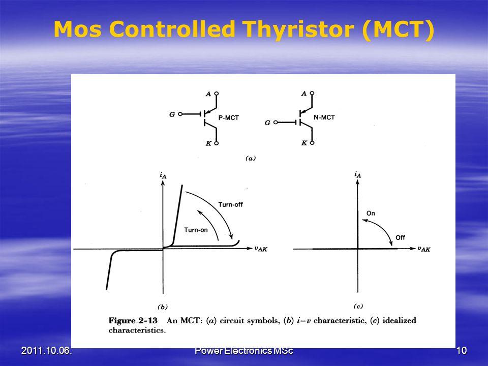 Mos Controlled Thyristor (MCT) 2011.10.06.10Power Electronics MSc