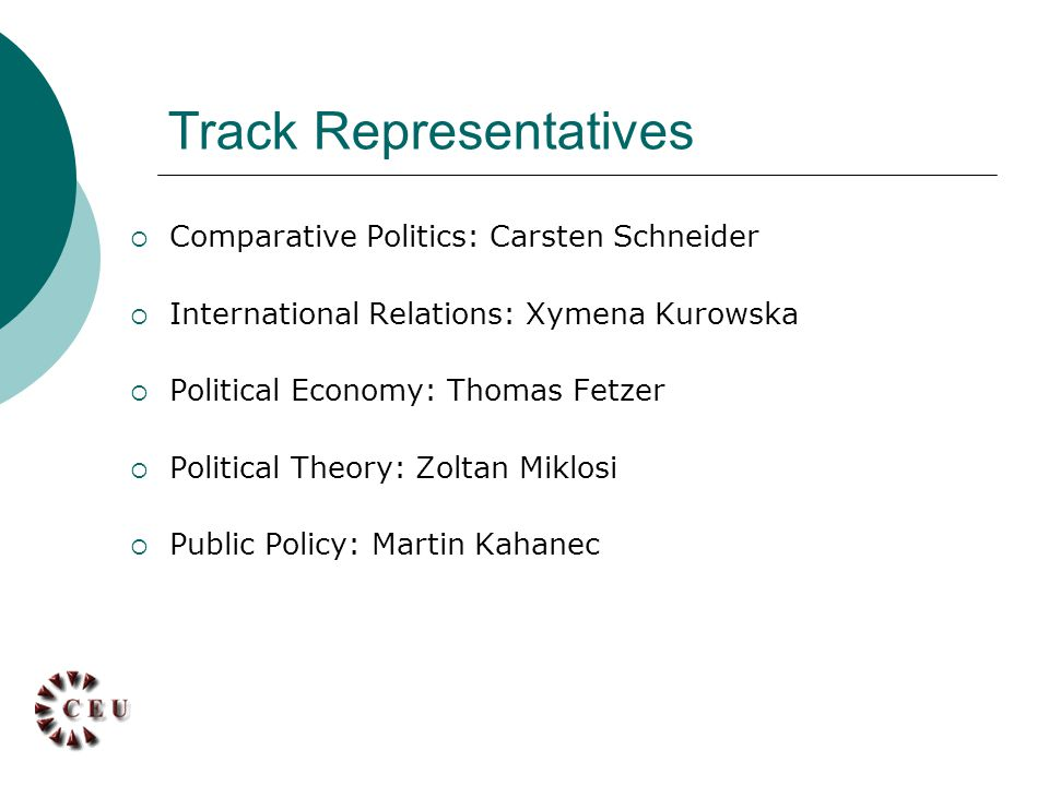 Heads of Departments  IRES: Matteo Fumagalli  Political Science: Gabor Toka  Public Policy: Thilo Bodenstein