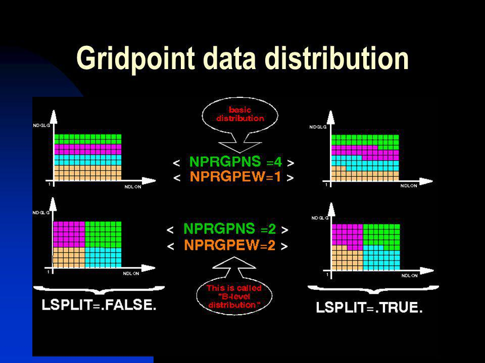 Gridpoint data distribution