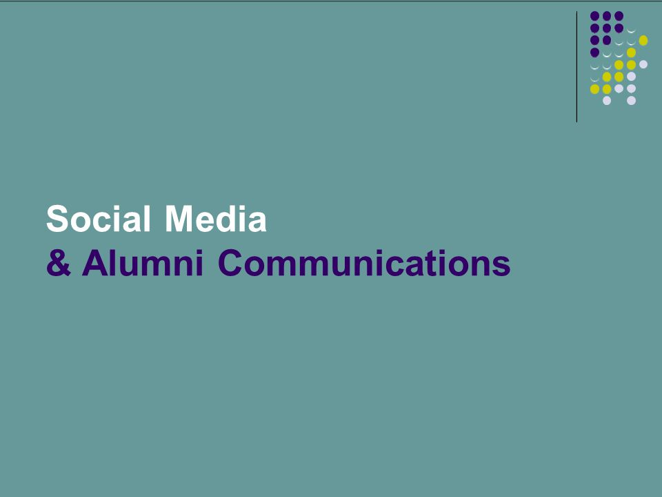 Social Media & Alumni Communications