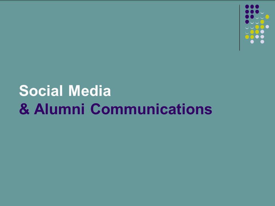 Social Media & Alumni Communications